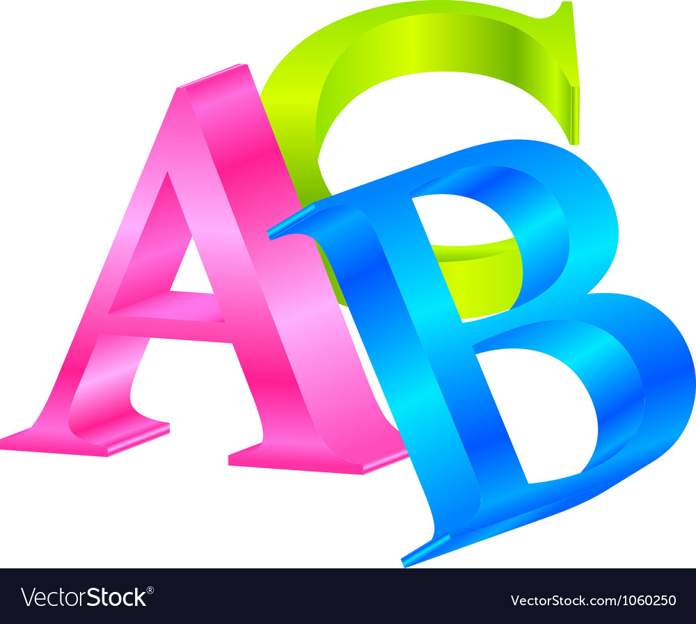 Abc vector | Price: 1 Credit (USD $1)