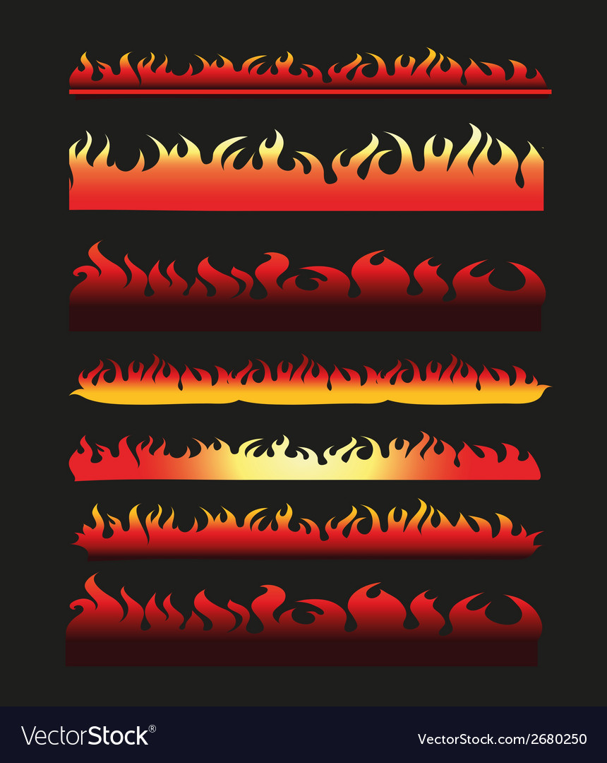 Abstract fire frame and border line collection vector | Price: 1 Credit (USD $1)