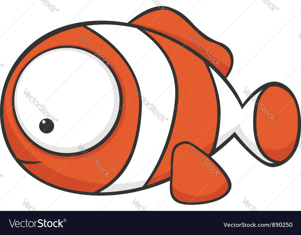 Big eyed clown fish vector | Price: 1 Credit (USD $1)