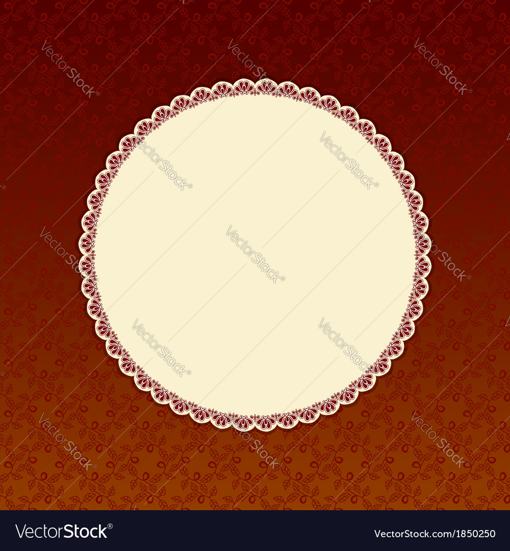 Brown background with beige round label vector | Price: 1 Credit (USD $1)