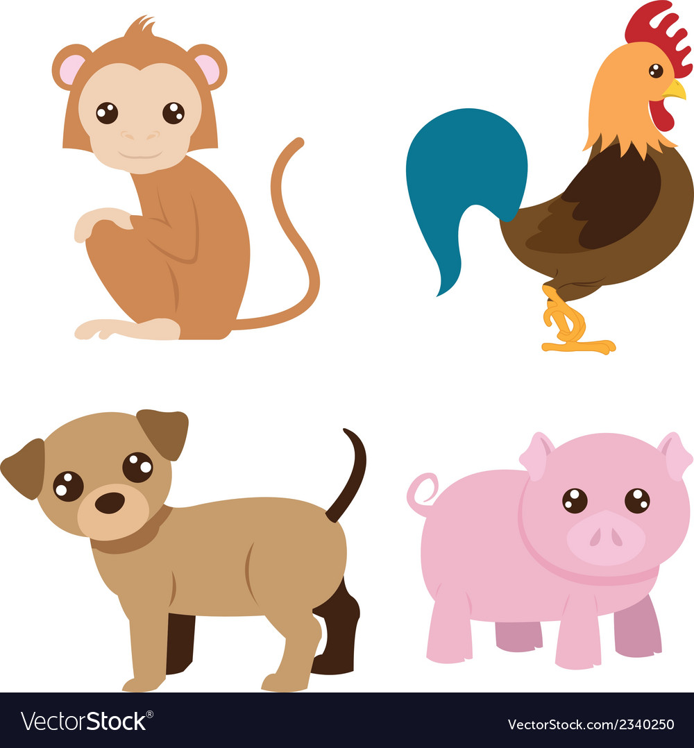 Chinese astrology signs set vector | Price: 1 Credit (USD $1)