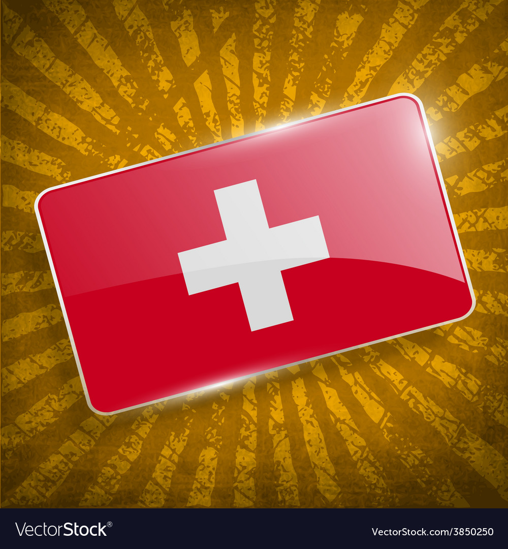 Flag of switzerland with old texture vector | Price: 1 Credit (USD $1)
