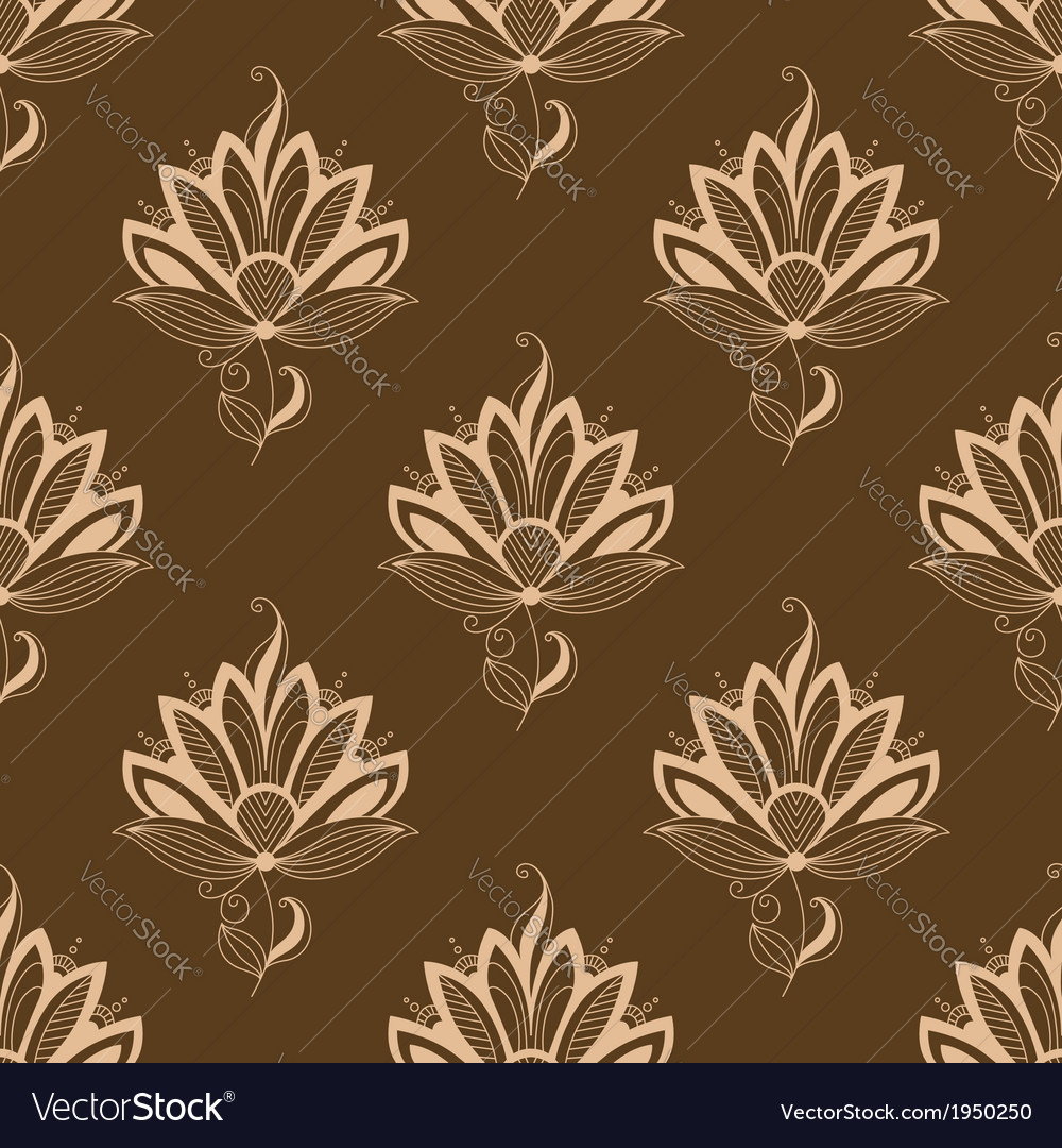 Floral motif repeat seamless pattern vector | Price: 1 Credit (USD $1)