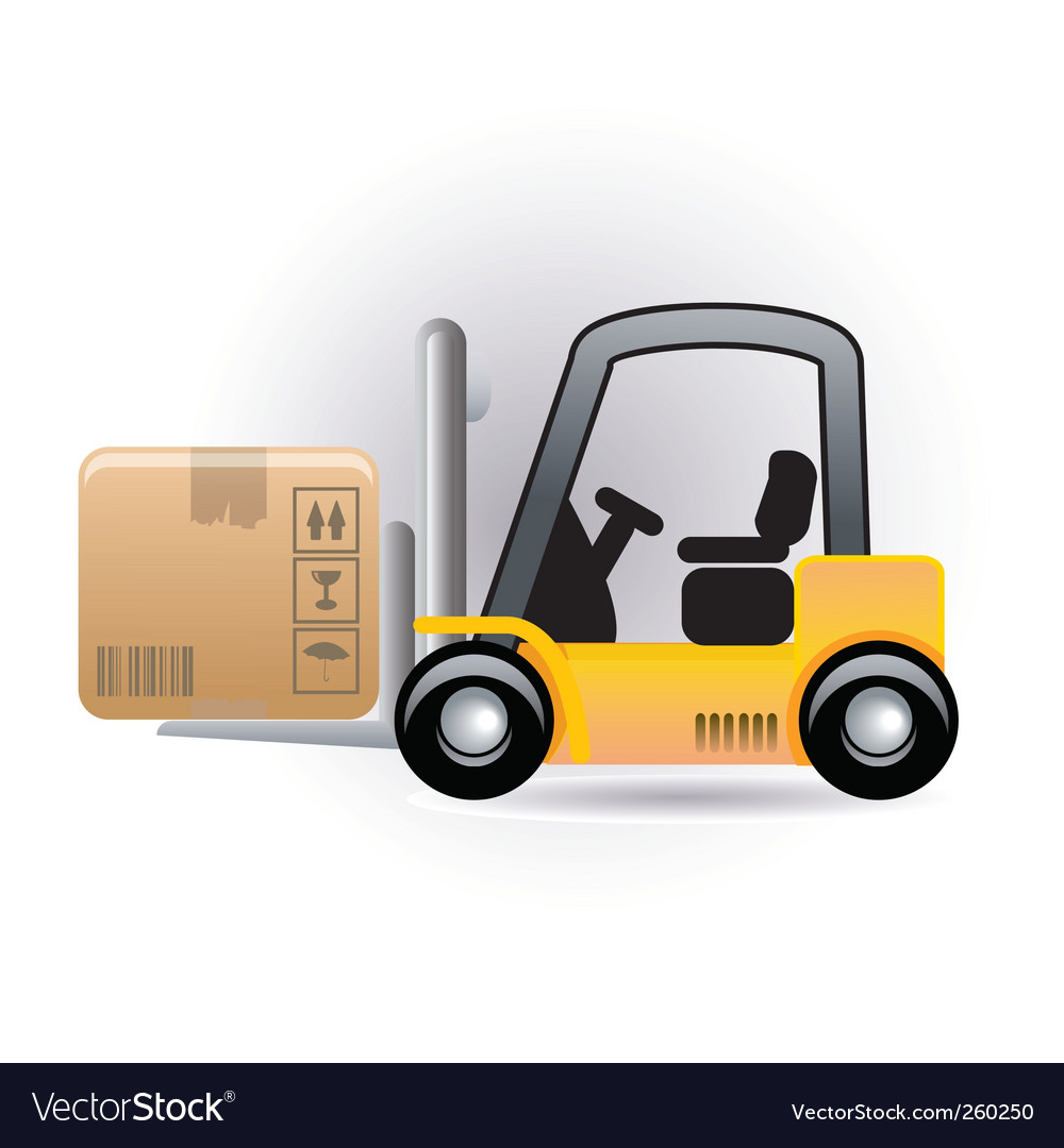 Forklift vector | Price: 1 Credit (USD $1)