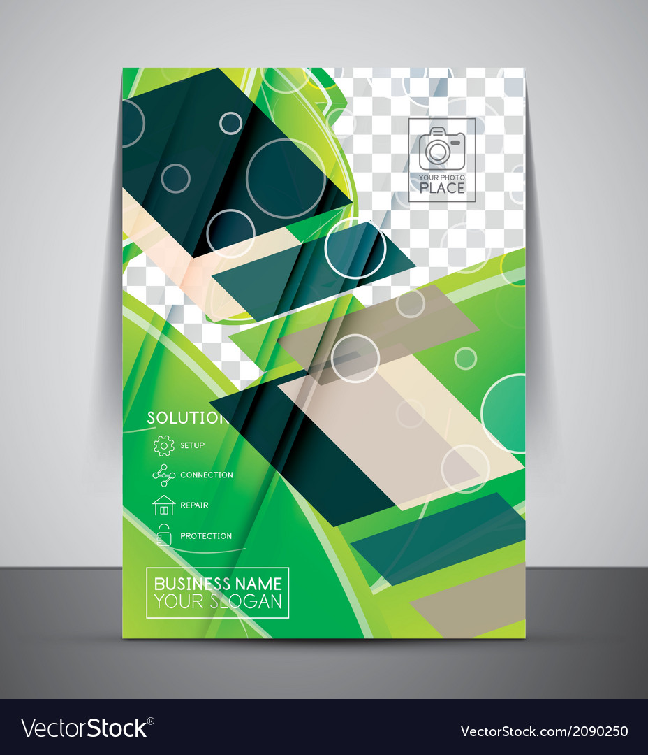 Green design business corporate print template vector | Price: 1 Credit (USD $1)