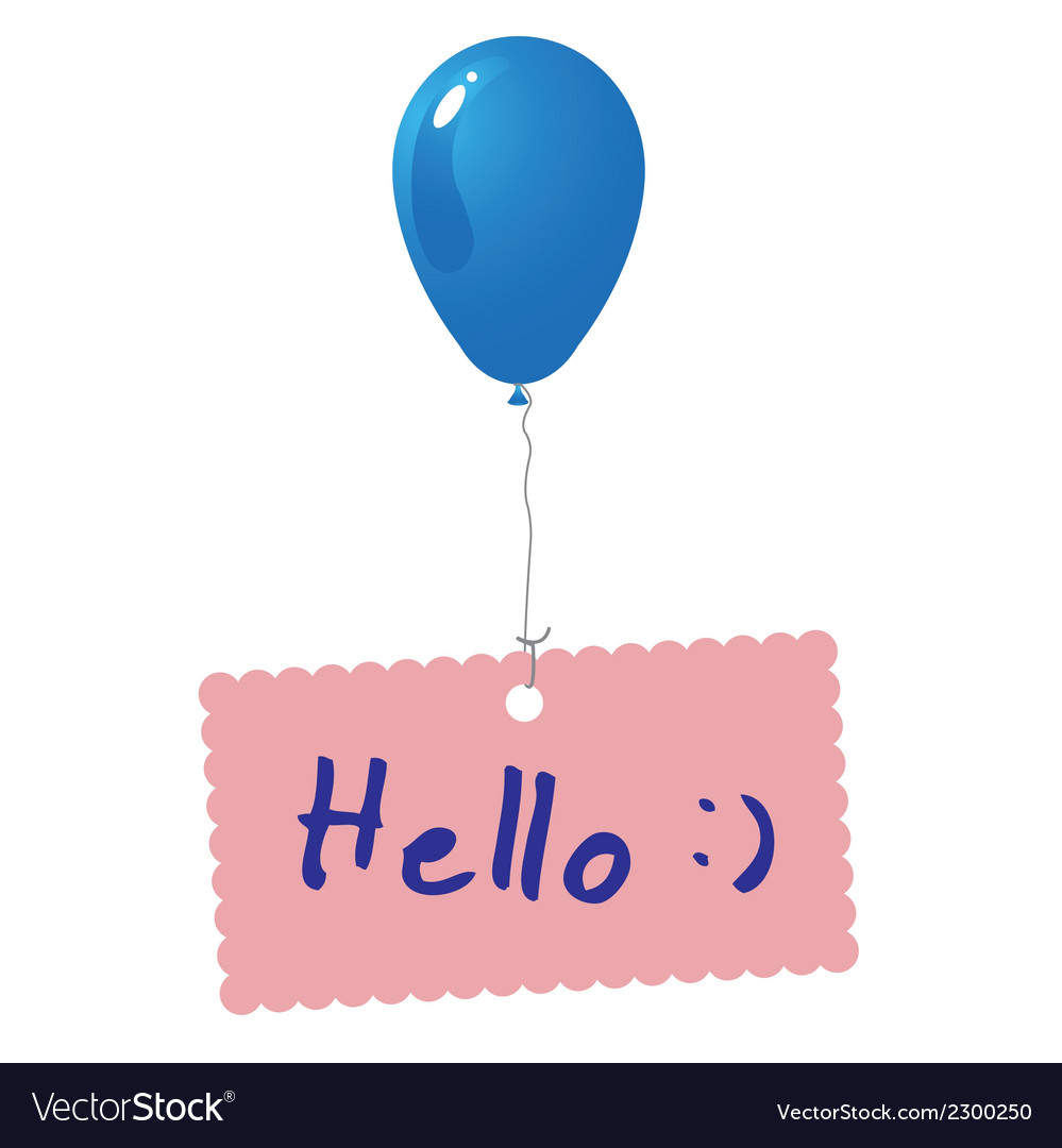 Hello card vector | Price: 1 Credit (USD $1)