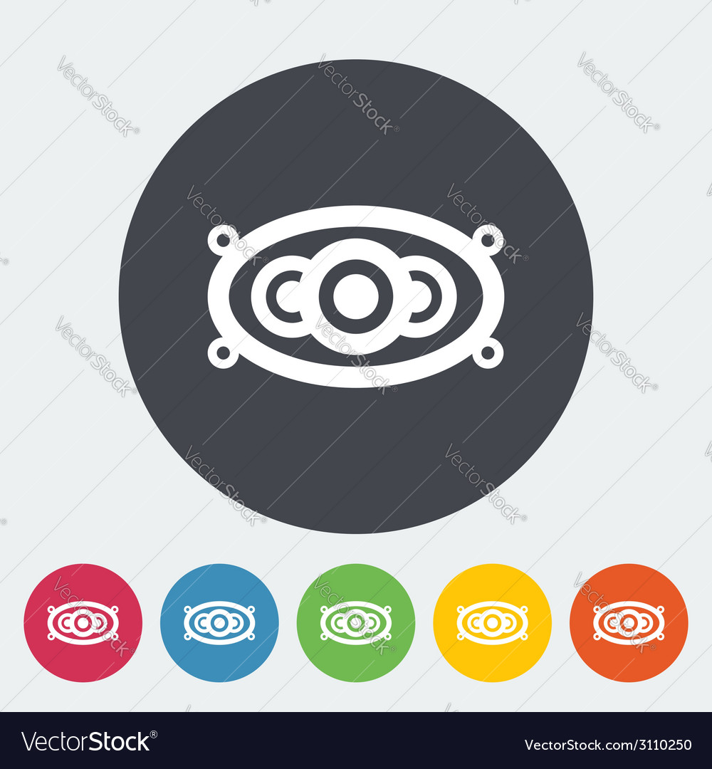 Icon of car speakers vector | Price: 1 Credit (USD $1)