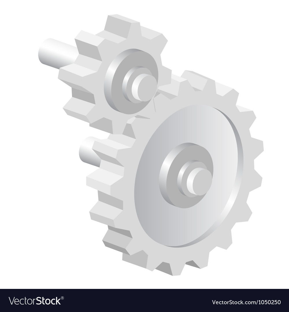 Industrial icon big steel gear vector | Price: 1 Credit (USD $1)