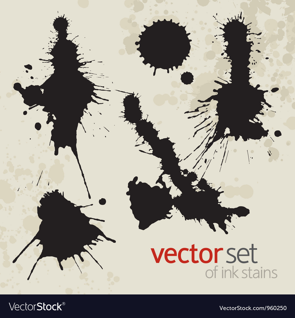 Ink stains set 1 vector | Price: 1 Credit (USD $1)