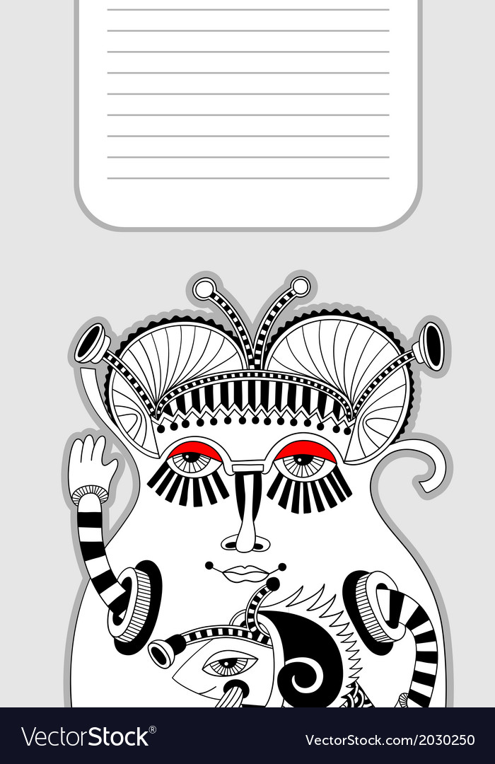 Modern cute ornate doodle fantasy monster vector | Price: 1 Credit (USD $1)