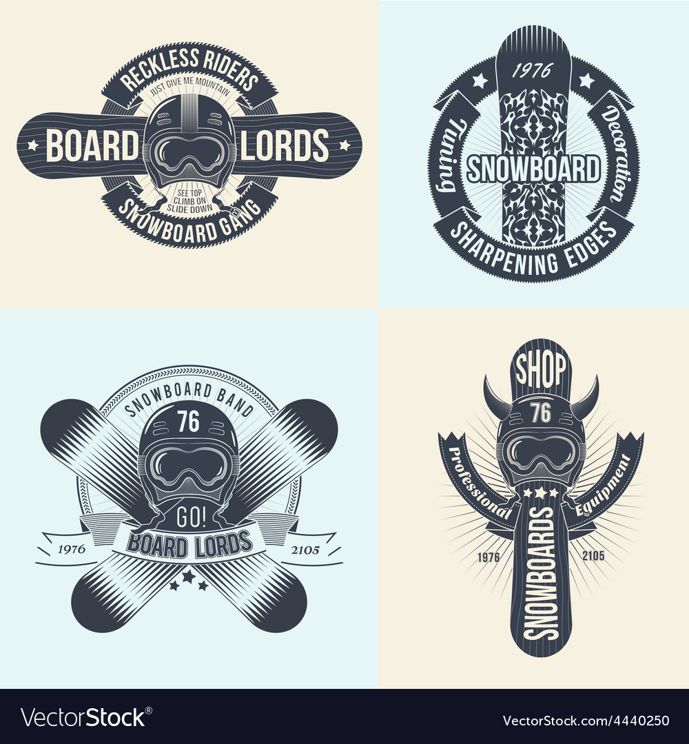 Snowboard logos vector | Price: 1 Credit (USD $1)