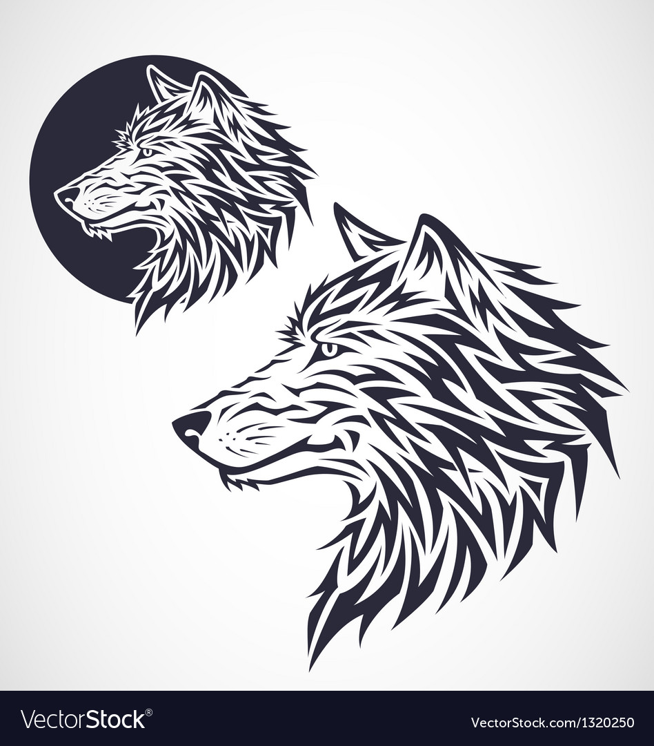 Wolf emblem vector | Price: 1 Credit (USD $1)