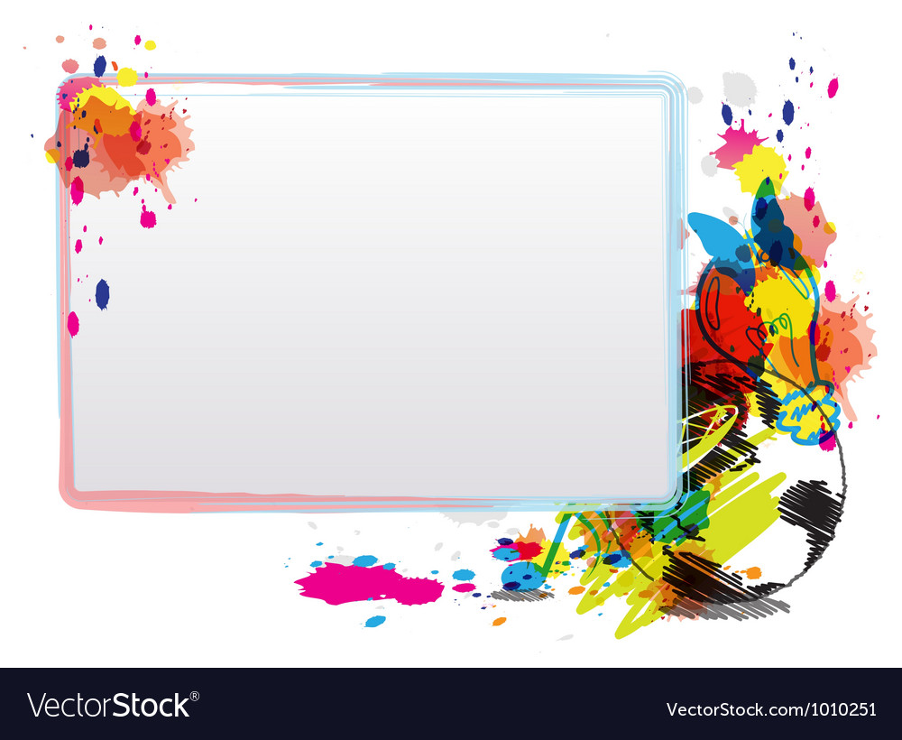 Abstract art design with frame vector | Price: 1 Credit (USD $1)