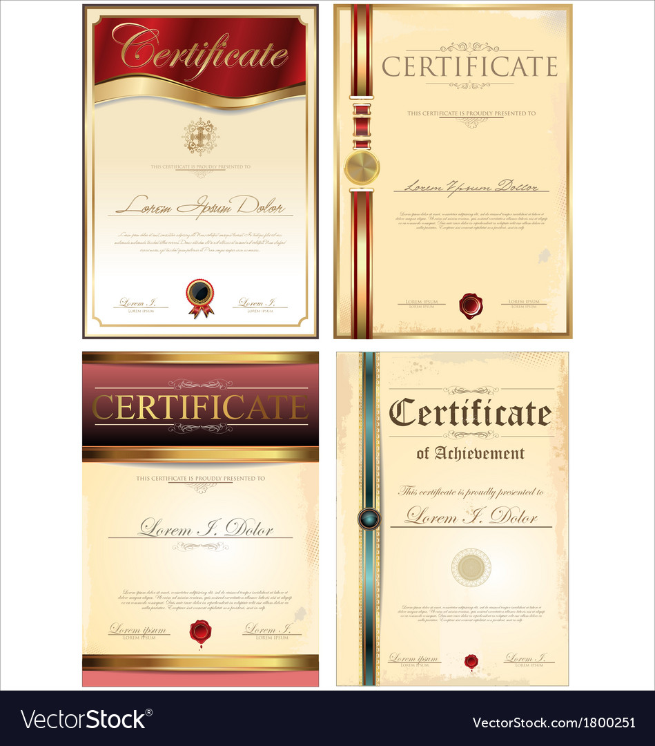 Certificate template set vector   Price: 1 Credit (USD $1)