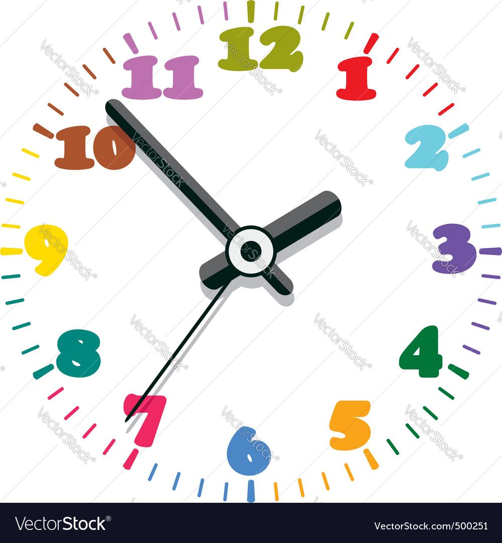 Colorful clock vector | Price: 1 Credit (USD $1)