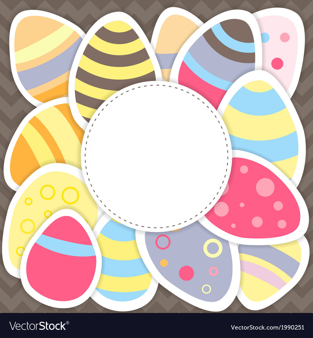 Easter eggs pattern on a brown vector | Price: 1 Credit (USD $1)