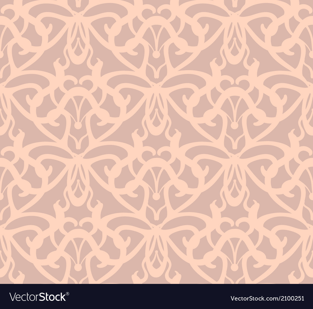 Elaborate pinkish-grey seamless pattern background vector | Price: 1 Credit (USD $1)