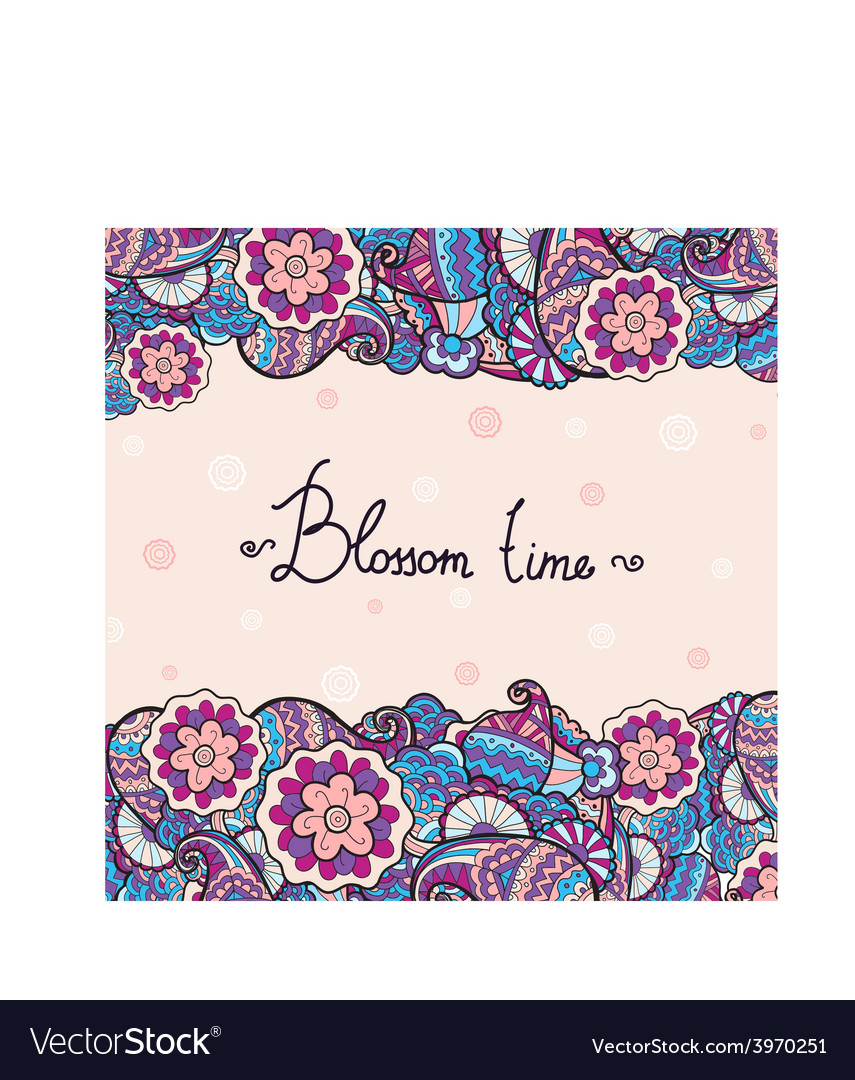 Floral cute invitation card with colorful vector   Price: 1 Credit (USD $1)