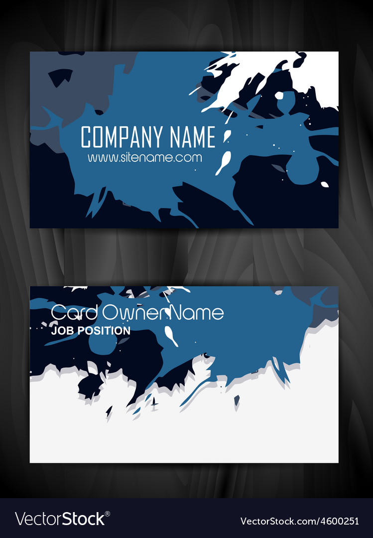 Grunge style business card design vector | Price: 1 Credit (USD $1)