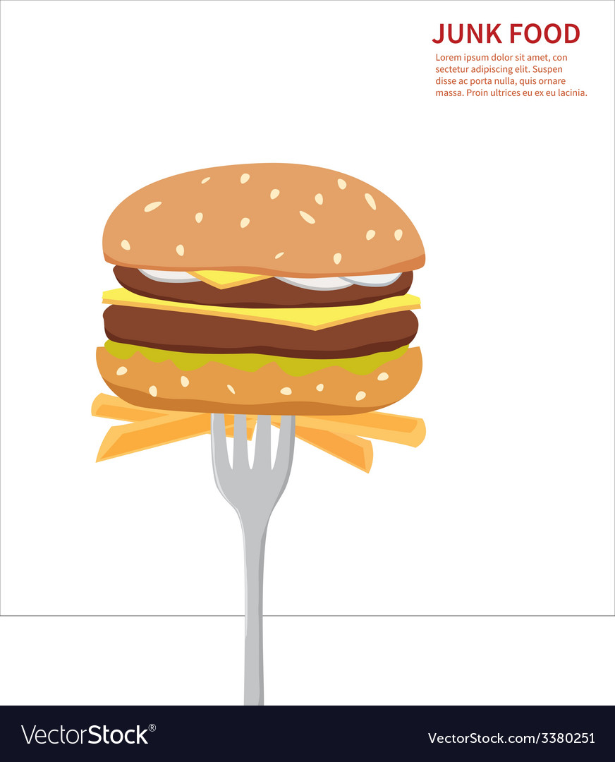 Junk food background isolated vector | Price: 1 Credit (USD $1)