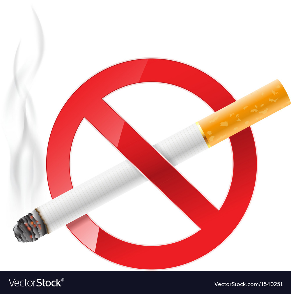 No smoking sign vector | Price: 1 Credit (USD $1)
