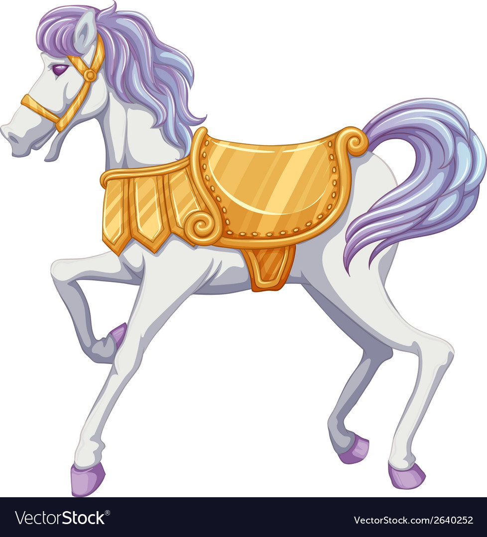 A carrousel horse vector | Price: 1 Credit (USD $1)