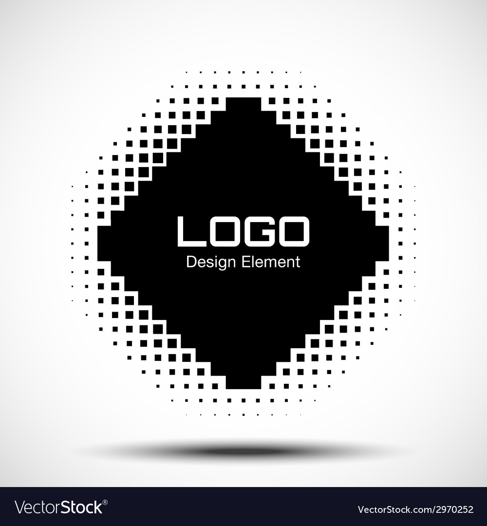 Abstract halftone logo design element raster vector | Price: 1 Credit (USD $1)