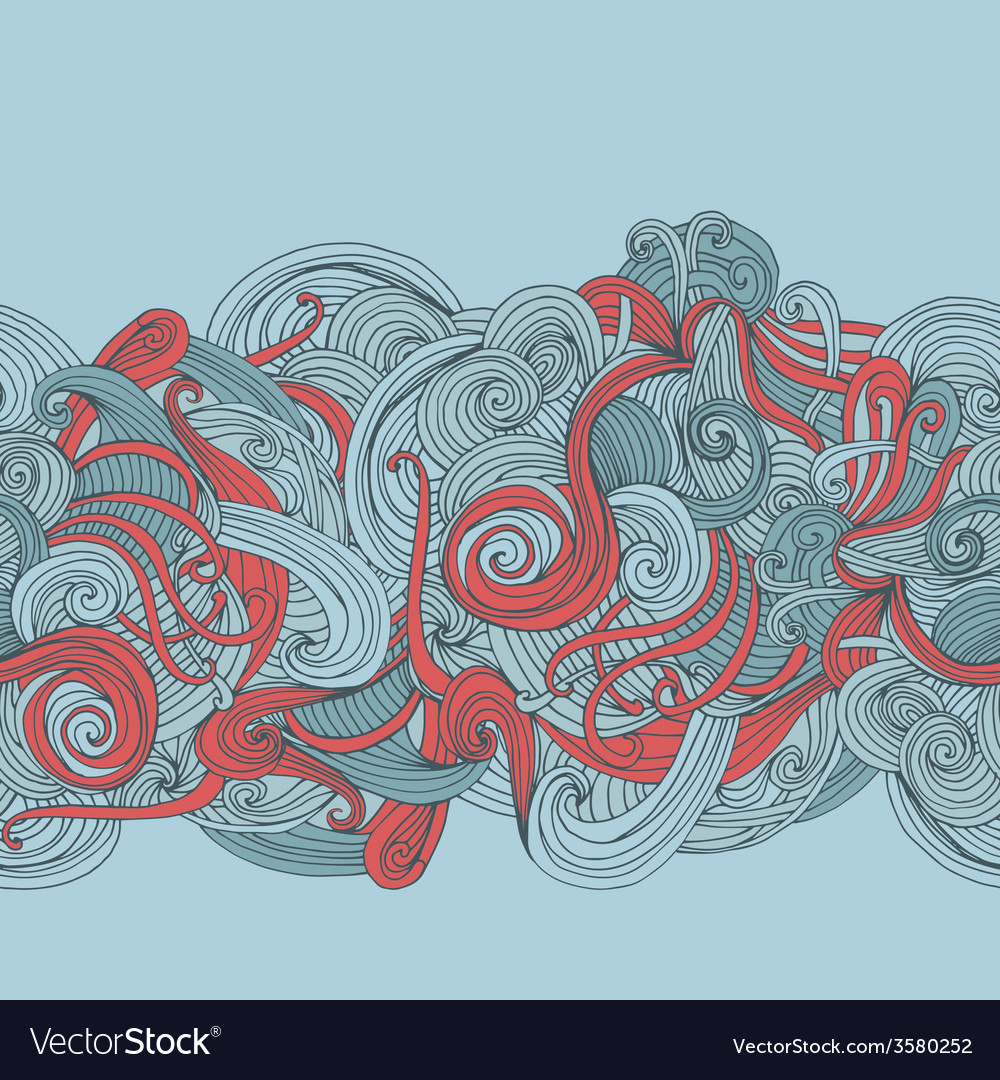 Abstract seamless hand-drawn border vector | Price: 1 Credit (USD $1)