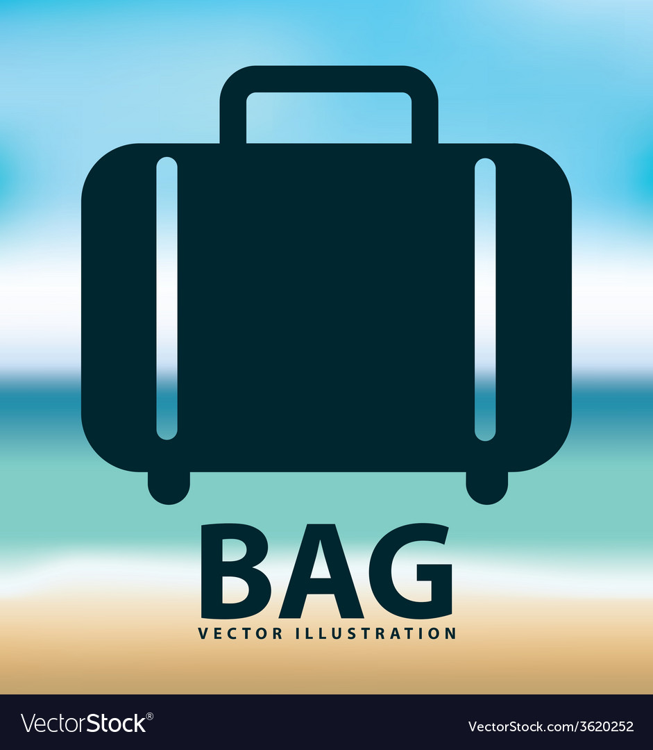Bag icon design vector | Price: 1 Credit (USD $1)