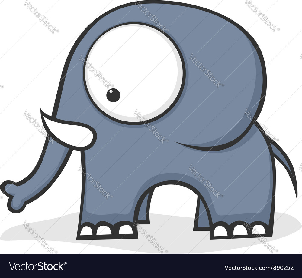 Big eyed elephant vector | Price: 1 Credit (USD $1)