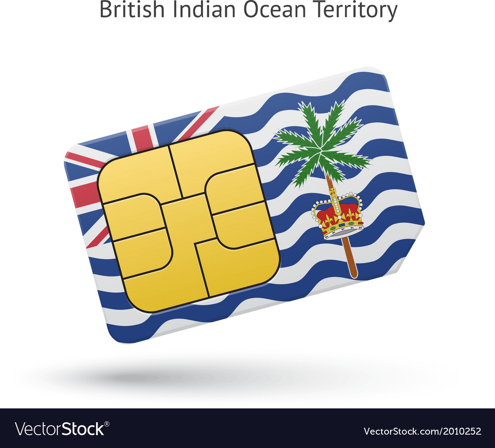 British indian ocean territory mobile phone sim vector | Price: 1 Credit (USD $1)