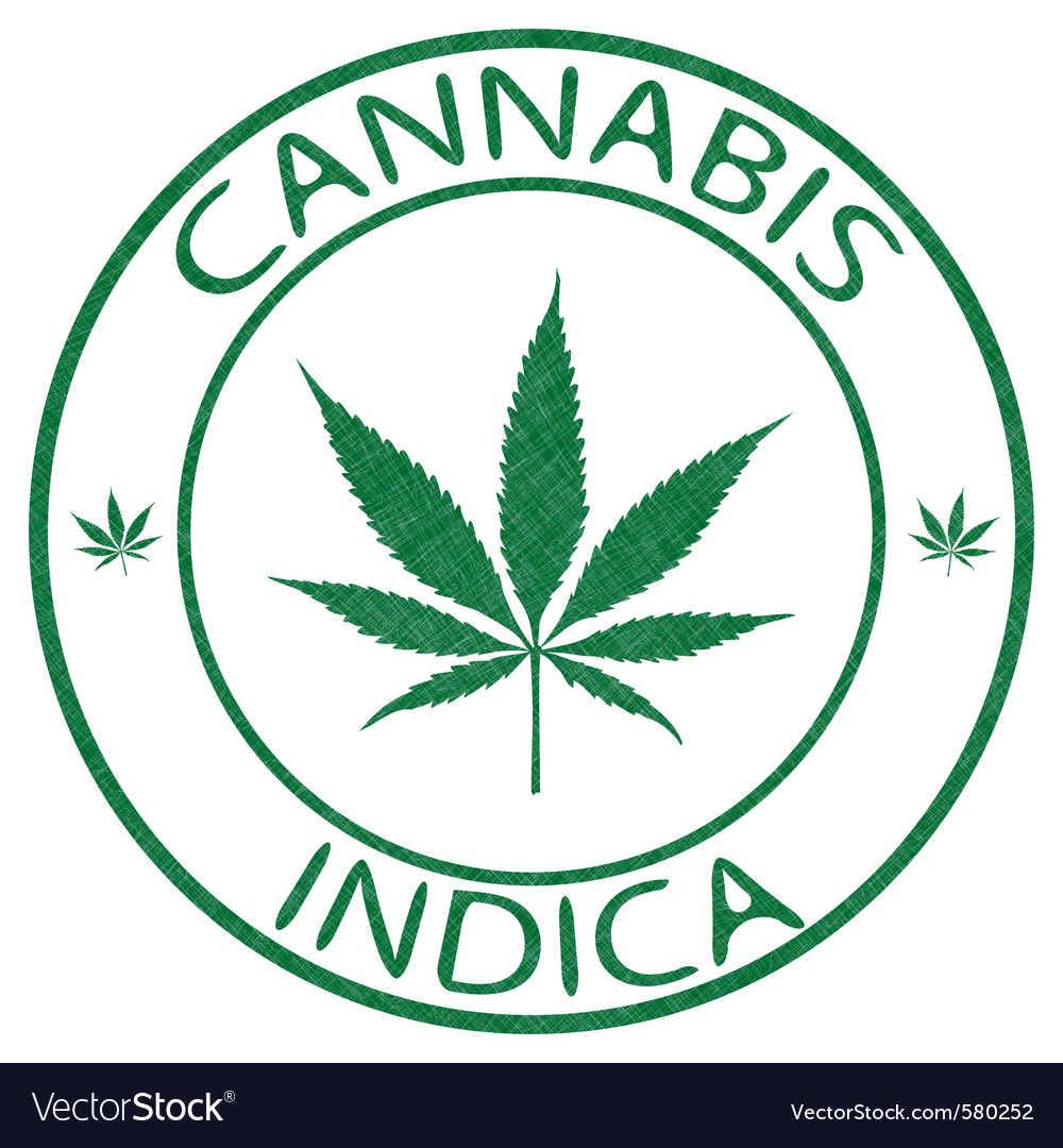 Cannabis stamp vector | Price: 1 Credit (USD $1)