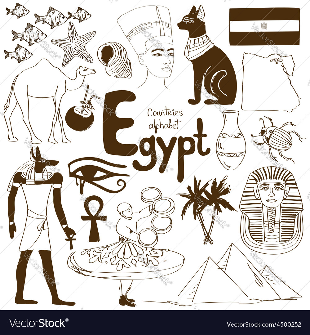 Collection of egypt icons vector | Price: 1 Credit (USD $1)
