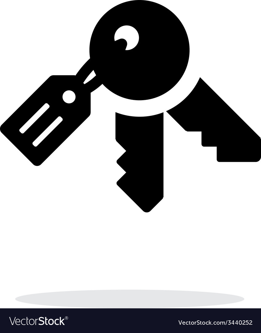 Keys icon on white background vector | Price: 1 Credit (USD $1)