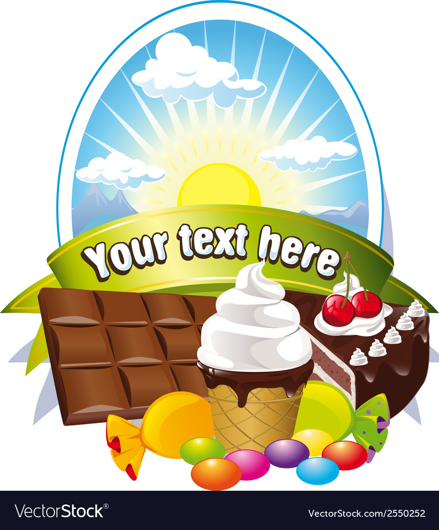 Label with sweets vector | Price: 1 Credit (USD $1)