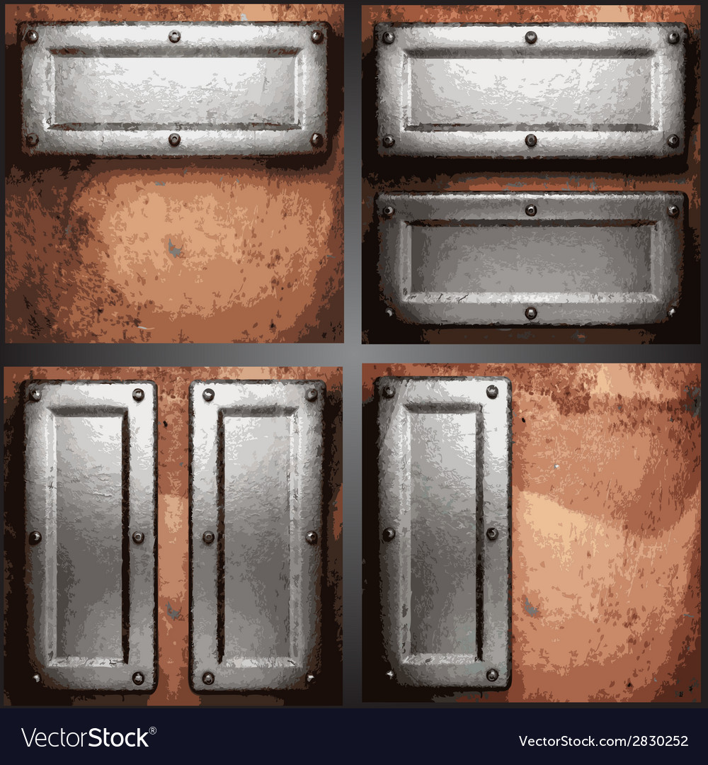 Metal background set vector | Price: 1 Credit (USD $1)
