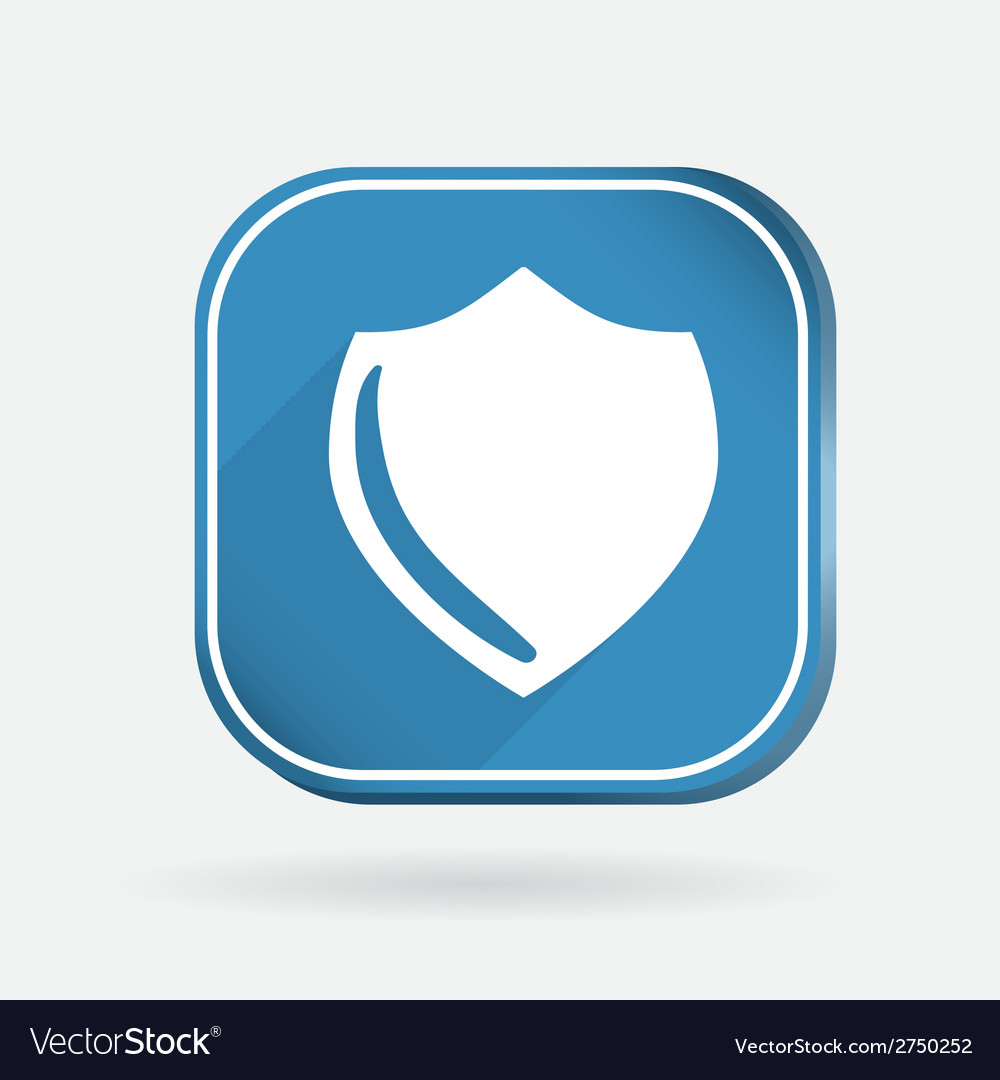 Protection shield color square icon vector | Price: 1 Credit (USD $1)