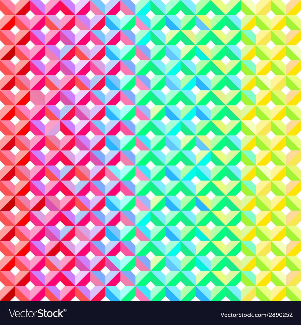 Rainbow geometric pattern vector | Price: 1 Credit (USD $1)