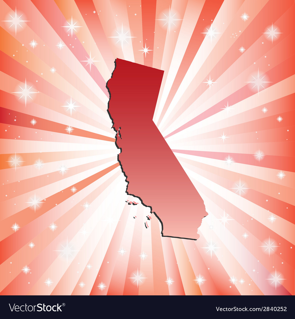 Red california vector | Price: 1 Credit (USD $1)