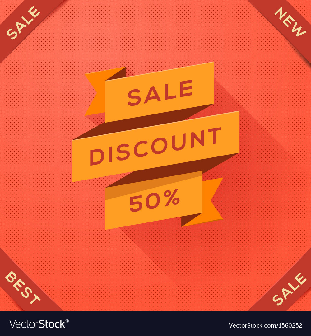 Sale discount paper folding design vector | Price: 1 Credit (USD $1)