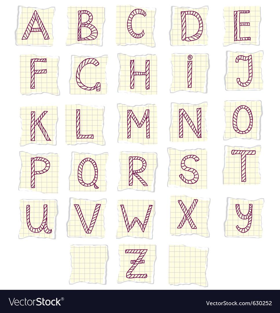 Scrapbook letters vector | Price: 1 Credit (USD $1)