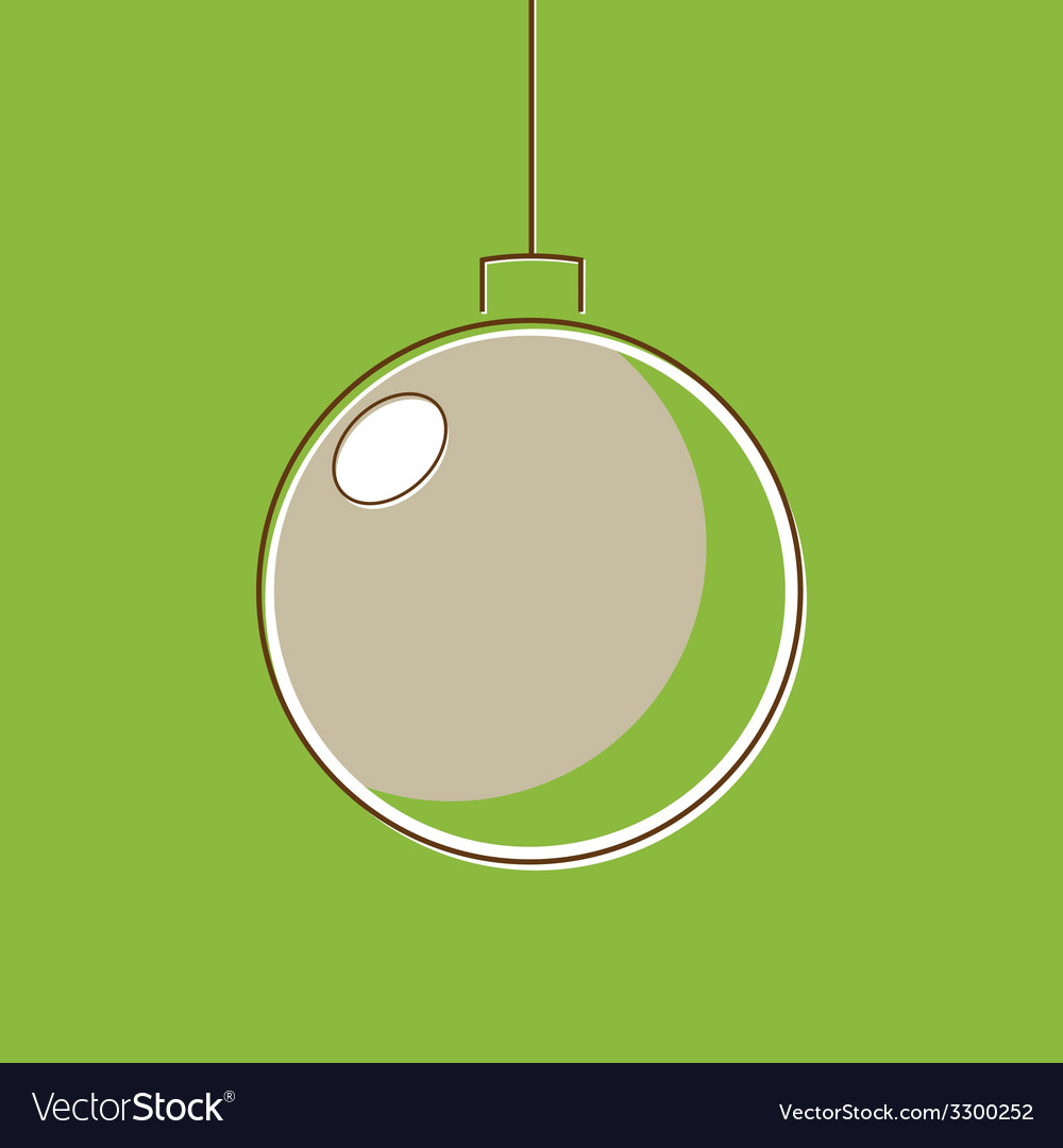 Stylized christmas balls in retro style vector | Price: 1 Credit (USD $1)