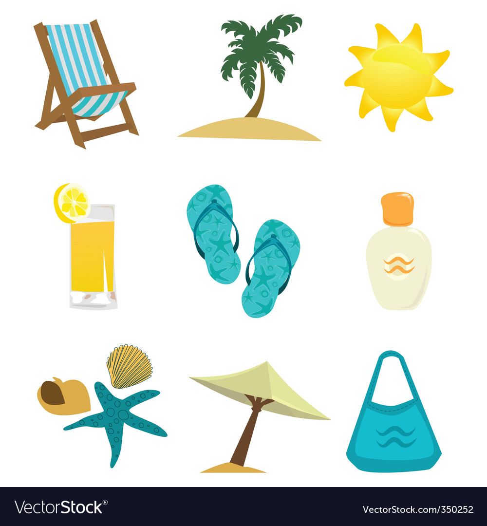 Summer time icon vector | Price: 1 Credit (USD $1)