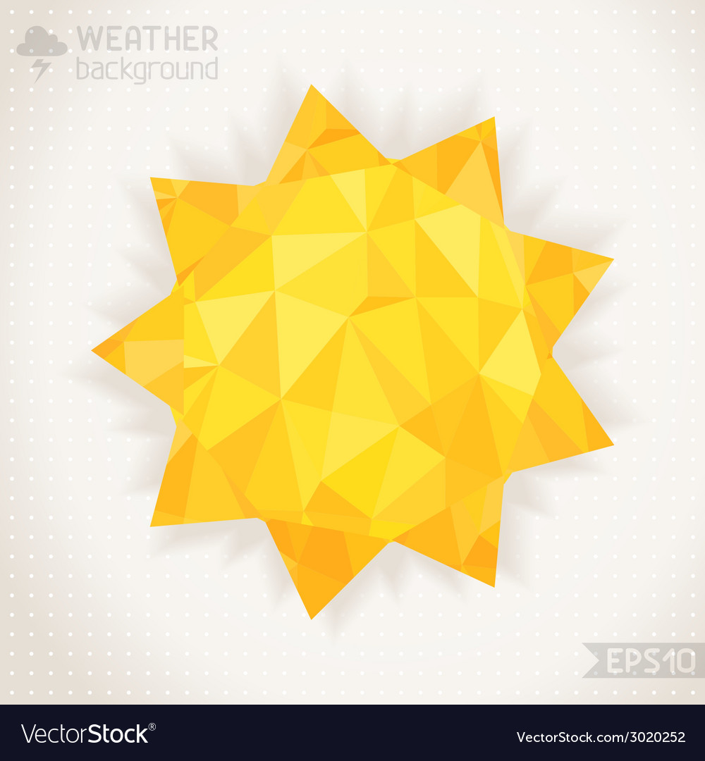 Sunny geometric background vector | Price: 1 Credit (USD $1)