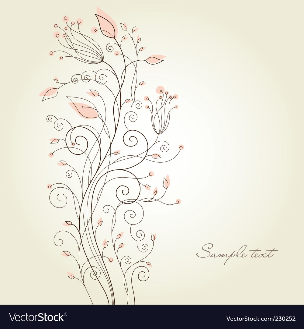 Swirl flourish vector | Price: 1 Credit (USD $1)