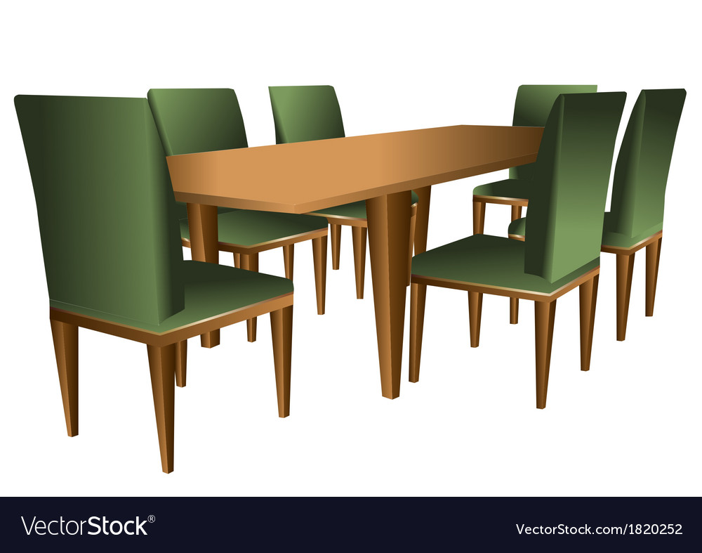 Table and chairs vector   Price: 1 Credit (USD $1)