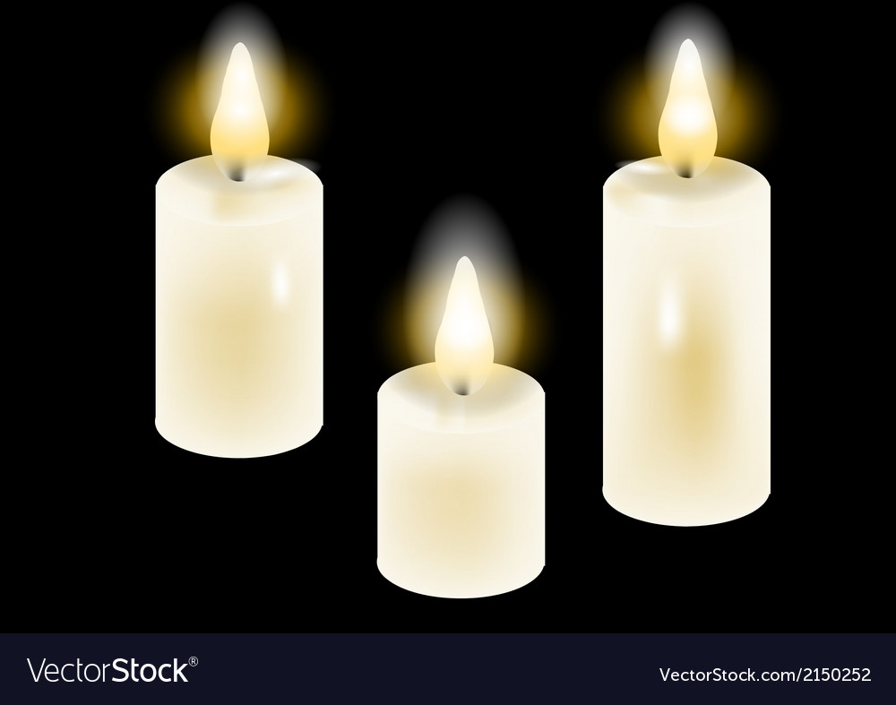 White candles vector | Price: 1 Credit (USD $1)