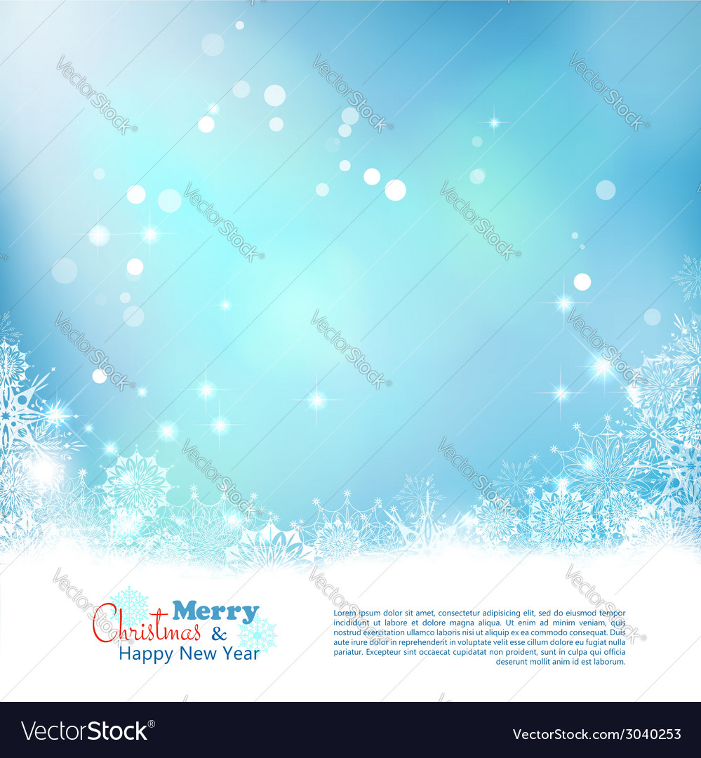 Abstract christmas winter background vector | Price: 1 Credit (USD $1)