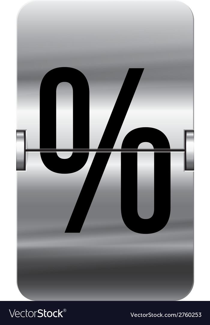 Alphabet silver flipboard letters percent vector | Price: 1 Credit (USD $1)