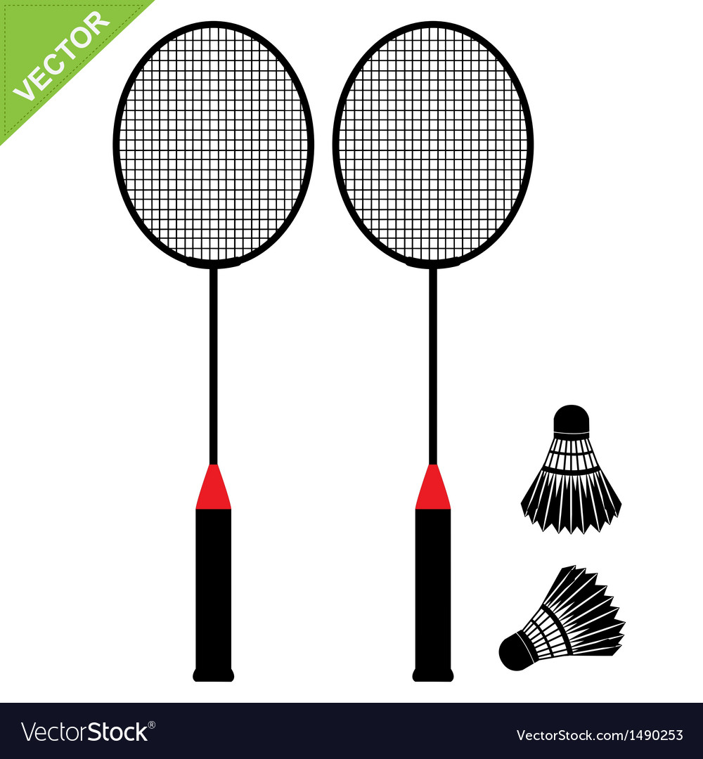 Badminton silhouettes vector | Price: 1 Credit (USD $1)